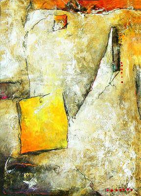 Oversized Mixed Media - Looking Out by Lisa England Schuster