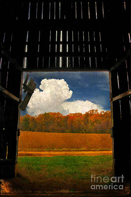 Old Barn Digital Art - Looking Out by Lois Bryan