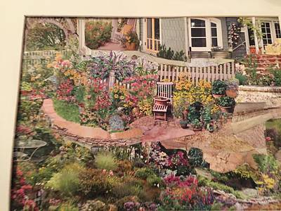Garden Scene Mixed Media - Looking Out My Backdoor  by Gail Miller