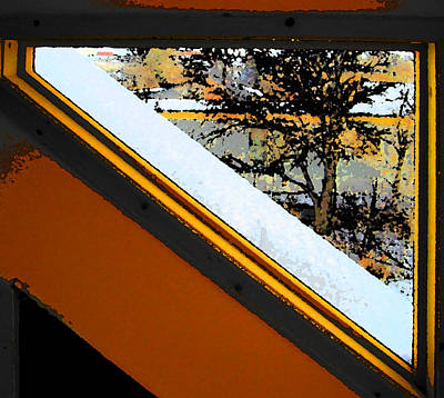 Looking Out My Brothers Window Art Print by Lenore Senior