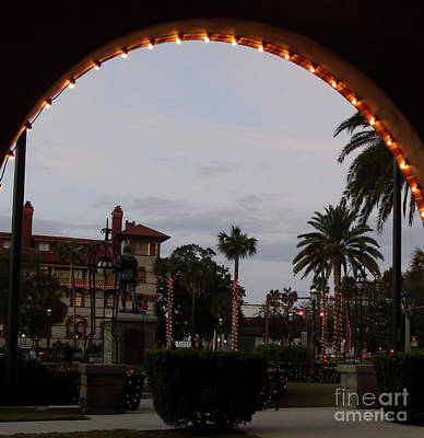 Photograph - Looking Out Of The Archway by D Hackett