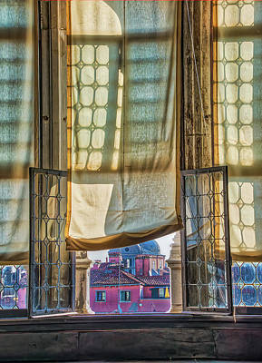 Photograph - Looking Out The Doges Window by Gary Slawsky