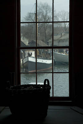 Looking Out Through A Window At Wooden Art Print by Todd Gipstein
