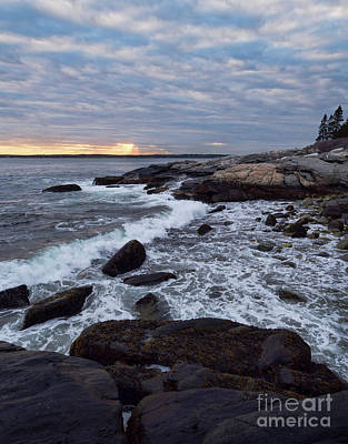 Photograph - Looking Out To Johns Bay, Pemaquid Point, Bristol, Maine  -60146 by John Bald