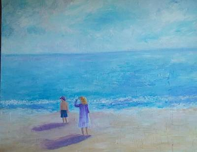 Painting - Looking Out To Sea by Joy Fahey