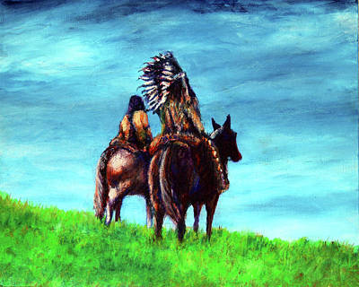 Painting - Looking Over Our Domain by Frank Botello