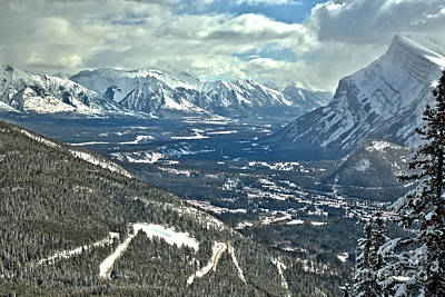 Photograph - Looking Over The Banff Valley by Adam Jewell