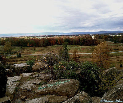 Photograph - Looking Over The Battle Field Of Gettysburg by Amazing Photographs AKA Christian Wilson