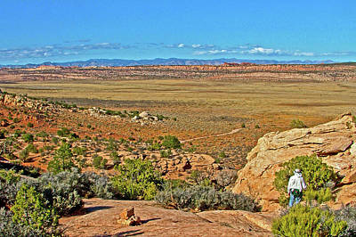 Photograph - Looking Over The Salt Valley From Tower Arch Trail In Arches National Park, Utah  by Ruth Hager