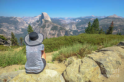 Photograph - Looking Panorama At Glacier Point by Benny Marty