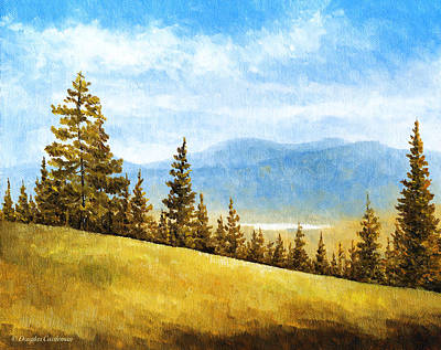 Painting - Looking South From Mt. Pinos by Douglas Castleman