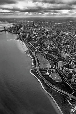 Looking South Toward Chicago From The Friendly Skies Art Print