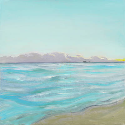 Painting - Looking South Tryptic Part 2 by Laura Lee Cundiff