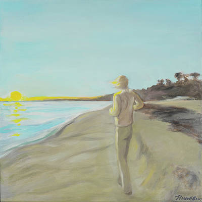 Painting - Looking South Tryptic Part 3 by Laura Lee Cundiff