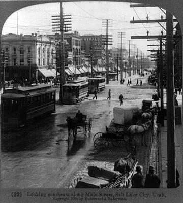 Telephone Poles Photograph - Looking Southeast Along Main Street by Everett