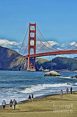 Photograph - Looking The Golden Gate Bridge Facing Towards The North by Jim Fitzpatrick
