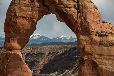 Freestanding Rock Photograph - Looking Through Delicate Arch by Jennifer Ancker