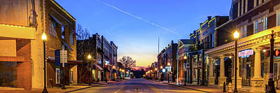 Photograph - Looking Through The Downtown Bentonville Skyline - Panorama  by Gregory Ballos