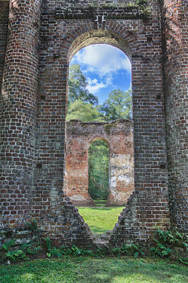 Photograph - Looking Through The Old Sheldon Church by Patricia Schaefer