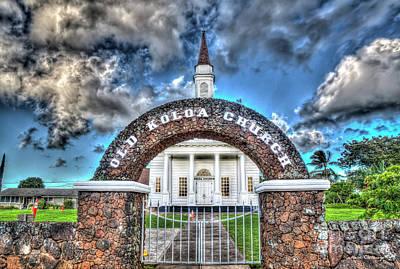 Photograph - Looking Thru Time Old Koloa Church Koloa Kauai Art by Reid Callaway