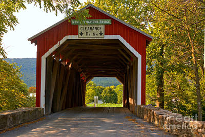 Photograph - Looking Thrugh The New Germantown Covered Bridge by Adam Jewell