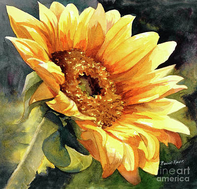 The Sun Painting - Looking To The Sun by Bonnie Rinier