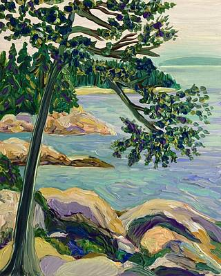 Painting - Looking Toward Stonington Maine by Polly Castor