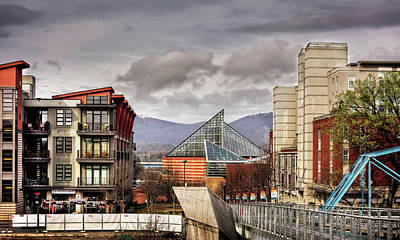 Orange Photograph - Looking Toward The Tennessee Aquarium by Greg Mimbs