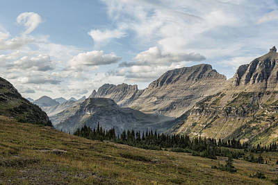 Photograph - Looking Towards Bishops Cap And Mt Gould - Glacier Np by Belinda Greb