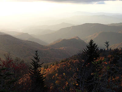 Photograph - Looking Towards The Great Smoky Mountains by Becky Erickson