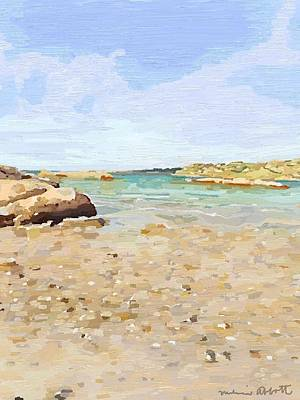 Painting - Looking Towards The Mouth Of The Annisquam River From Wingaersheek Beach, Gloucester, Ma by Melissa Abbott