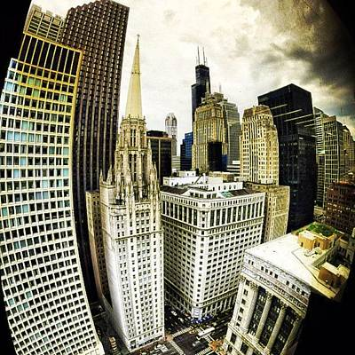 Wall Art - Photograph - Looking Towards The Southwest And The Sears Tower by Nick Heap
