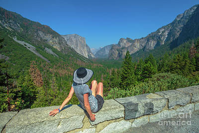 Photograph - Looking Tunnerl View Yosemite by Benny Marty