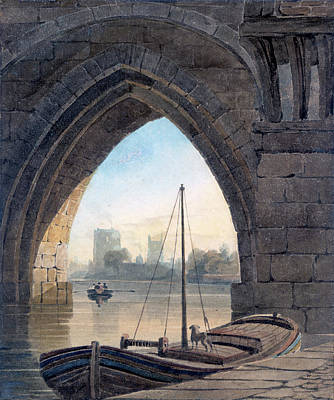 Painting - Looking Under The Bridge by John Varley