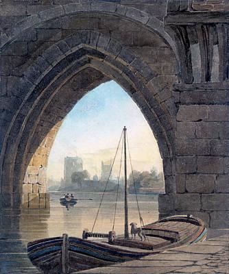 Painting - Looking Under The Bridge by John Varley