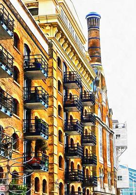 Photograph - Looking Up At Butler's Wharf London by Dorothy Berry-Lound