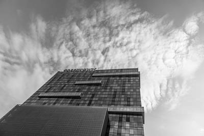 Photograph - Looking Up At Greektown Casino Sign In Detroit  by John McGraw