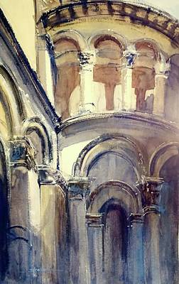 Painting - Looking Up At Lucca by Sandra Strohschein