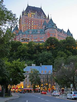 Looking Up At The Chateau Frontenac Early Evening Original