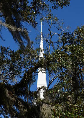 Photograph - Looking Up At The Cross by Carla Parris