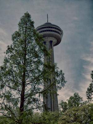 Photograph - Looking Up At The Skylon by Leslie Montgomery