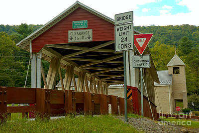 Photograph - Looking Up At The St. Mary Covered Bridge by Adam Jewell