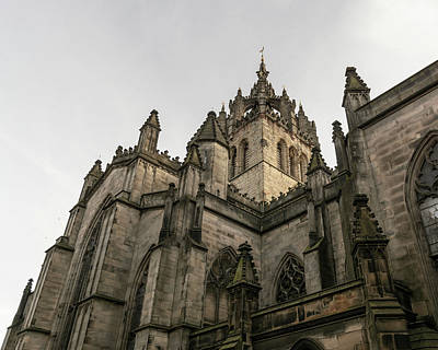 Photograph - Looking Up At The Tower Of St Giles Cathedral by Jacek Wojnarowski