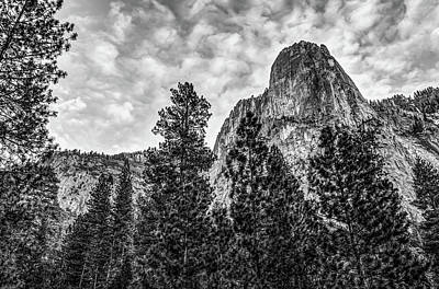 Photograph - Looking Up At Yosemite National Park - Black And White by Gregory Ballos