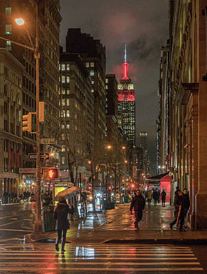 Photograph - Looking Up Fifth Avenue by Jeffrey Friedkin