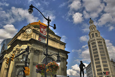 Photograph - Looking Up In Buffalo Ny by Michael Frank Jr