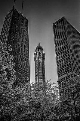 Photograph - Looking Up In Chicago by Roger Passman