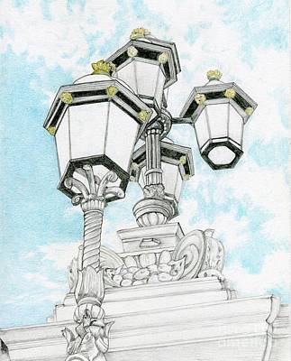 Drawing - Looking Up In London by Tammie Painter