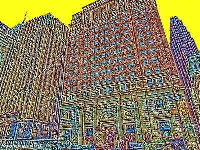 Digital Art - Looking Up In Love Park by Vince Green