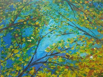 Painting - Looking Up In My Backyard  by Patricia Olson
